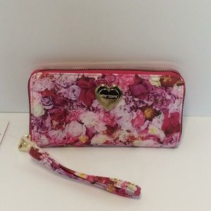 Betsey Johnson Floral Zippered Wallet
